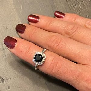 Onyx Cushion Cut Ring